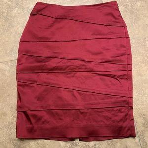 WHBM burgundy pencil skirt sz 00
